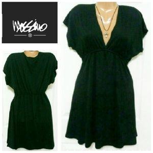 Mossimo Black V-Neck Empire Waist Dress Size Small